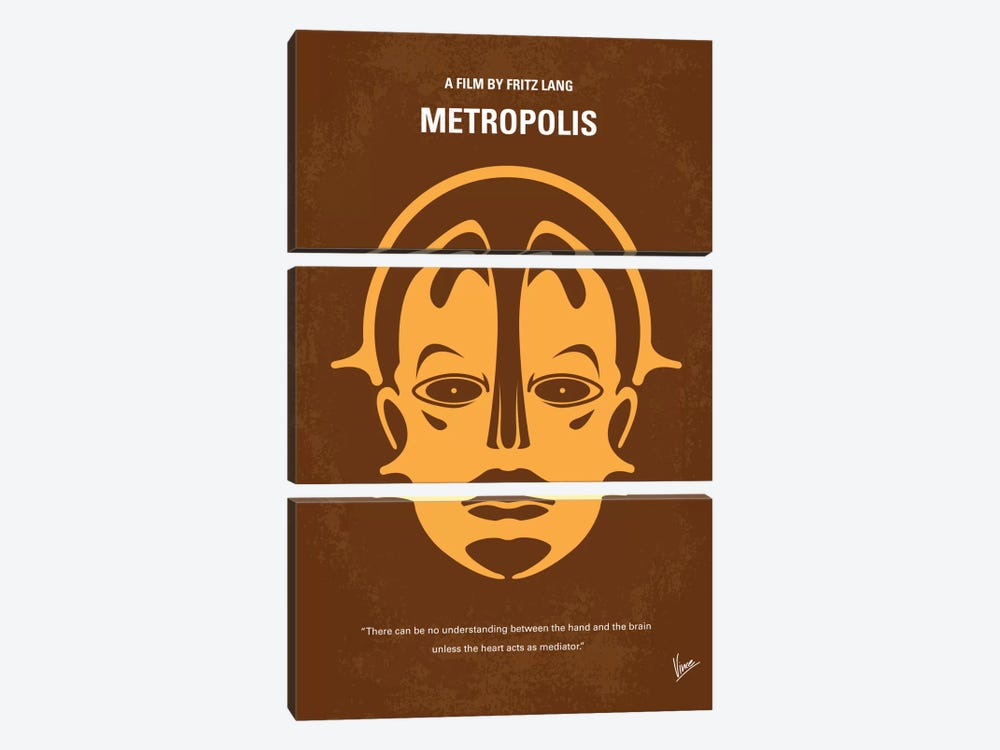 Metropolis Minimal Movie Poster by Chungkong 3-piece Canvas Artwork