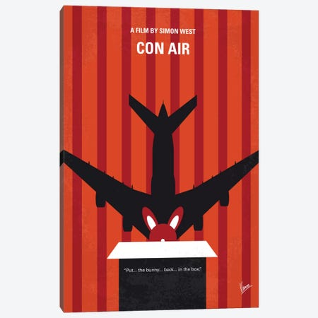 Con Air Minimal Movie Poster Canvas Print #CKG6} by Chungkong Canvas Wall Art