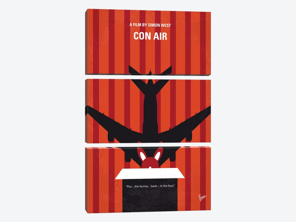 Con Air Minimal Movie Poster by Chungkong 3-piece Canvas Print