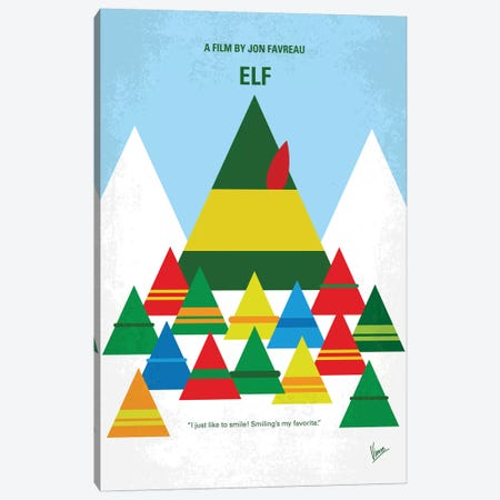 Elf Minimal Movie Poster Canvas Print #CKG700} by Chungkong Canvas Wall Art