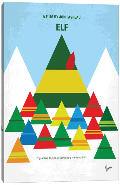 Elf Minimal Movie Poster Canvas Art Print