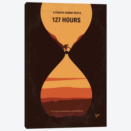 127 Hours Minimal Movie Poster Canvas Print #CKG701} by Chungkong Canvas Wall Art