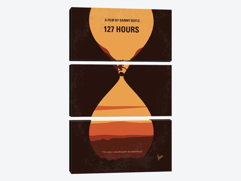 127 Hours Minimal Movie Poster by Chungkong 3-piece Canvas Art Print