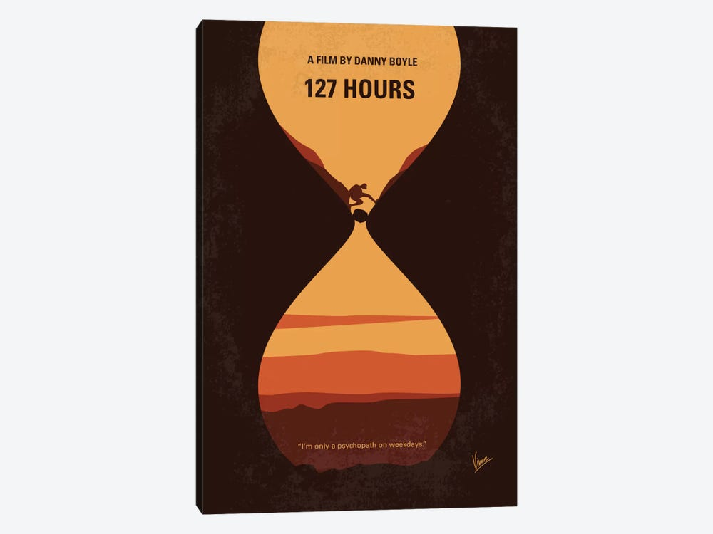 127 Hours Minimal Movie Poster by Chungkong 1-piece Canvas Print