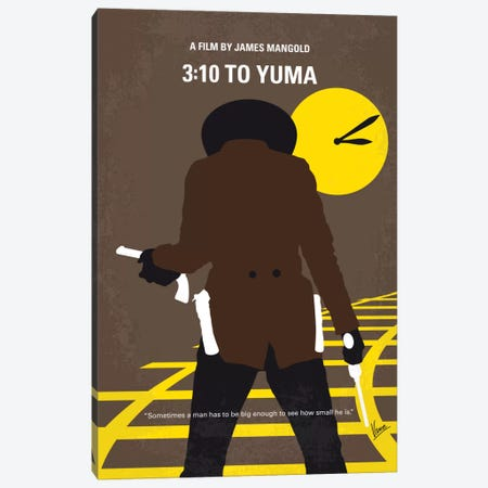3:10 To Yuma Minimal Movie Poster Canvas Print #CKG703} by Chungkong Canvas Art