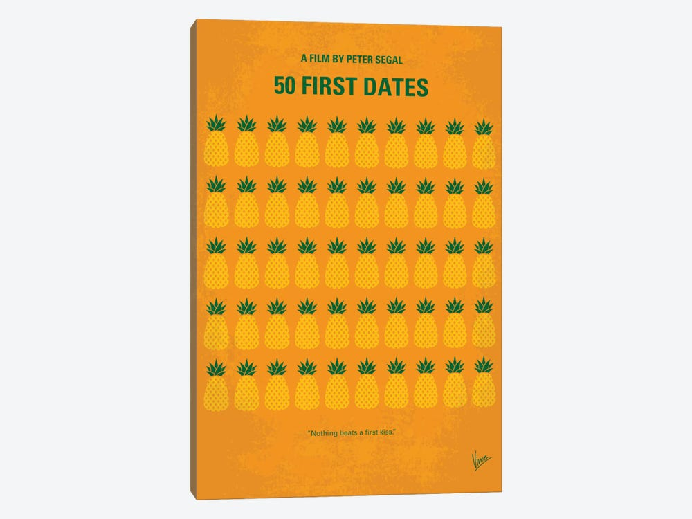 50 First Dates Minimal Movie by Chungkong 1-piece Canvas Artwork