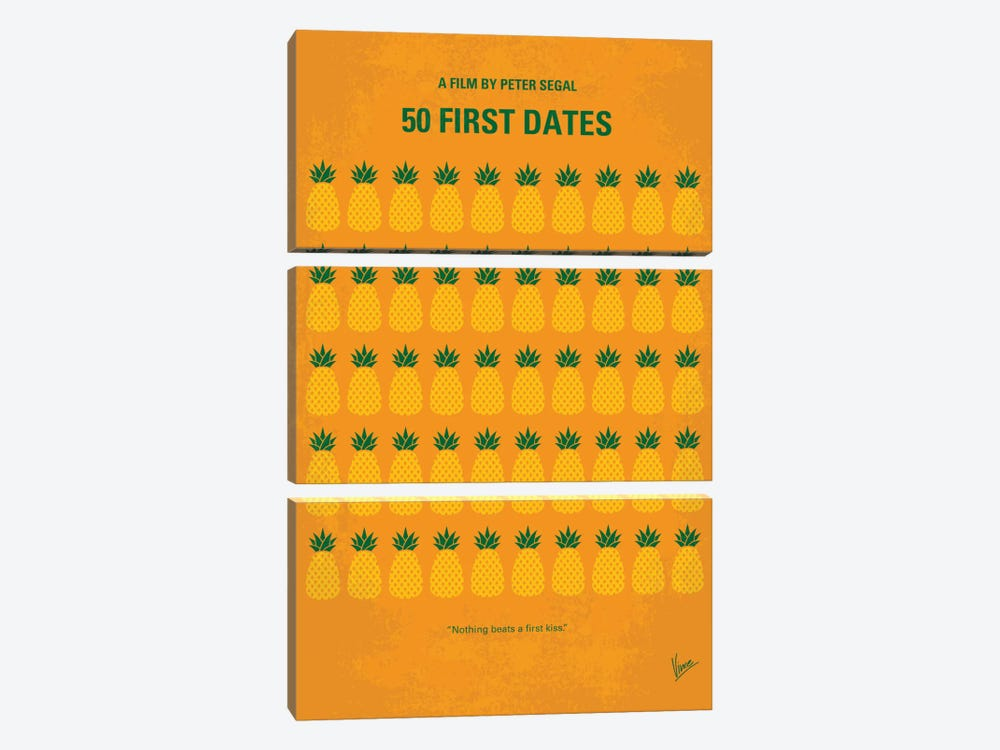 50 First Dates Minimal Movie by Chungkong 3-piece Canvas Wall Art