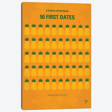 50 First Dates Minimal Movie 3-Piece Canvas #CKG704} by Chungkong Canvas Art Print