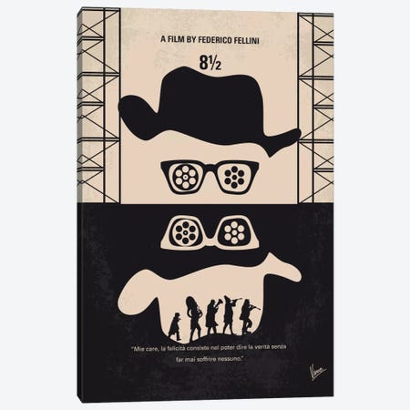 8 1/2 Minimal Movie Poster Canvas Print #CKG705} by Chungkong Art Print