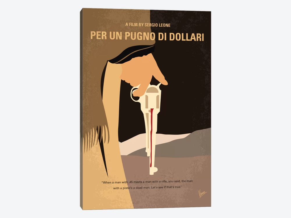 A Fistful Of Dollars Minimal Movie Poster by Chungkong 1-piece Canvas Art