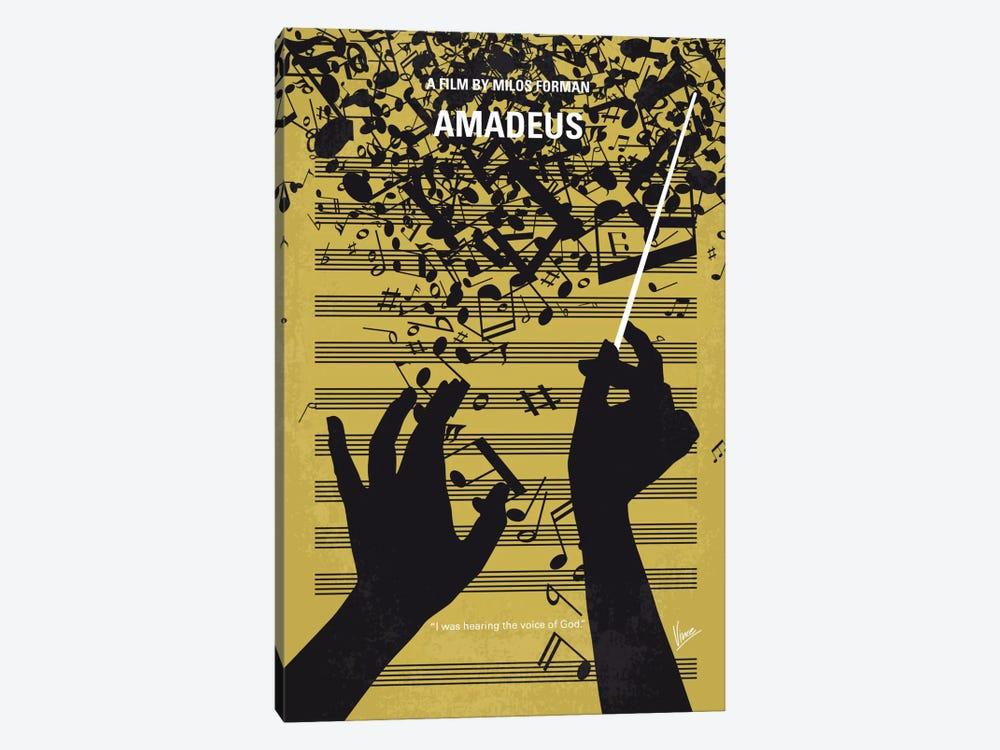 Amadeus Minimal Movie Poster by Chungkong 1-piece Canvas Art Print