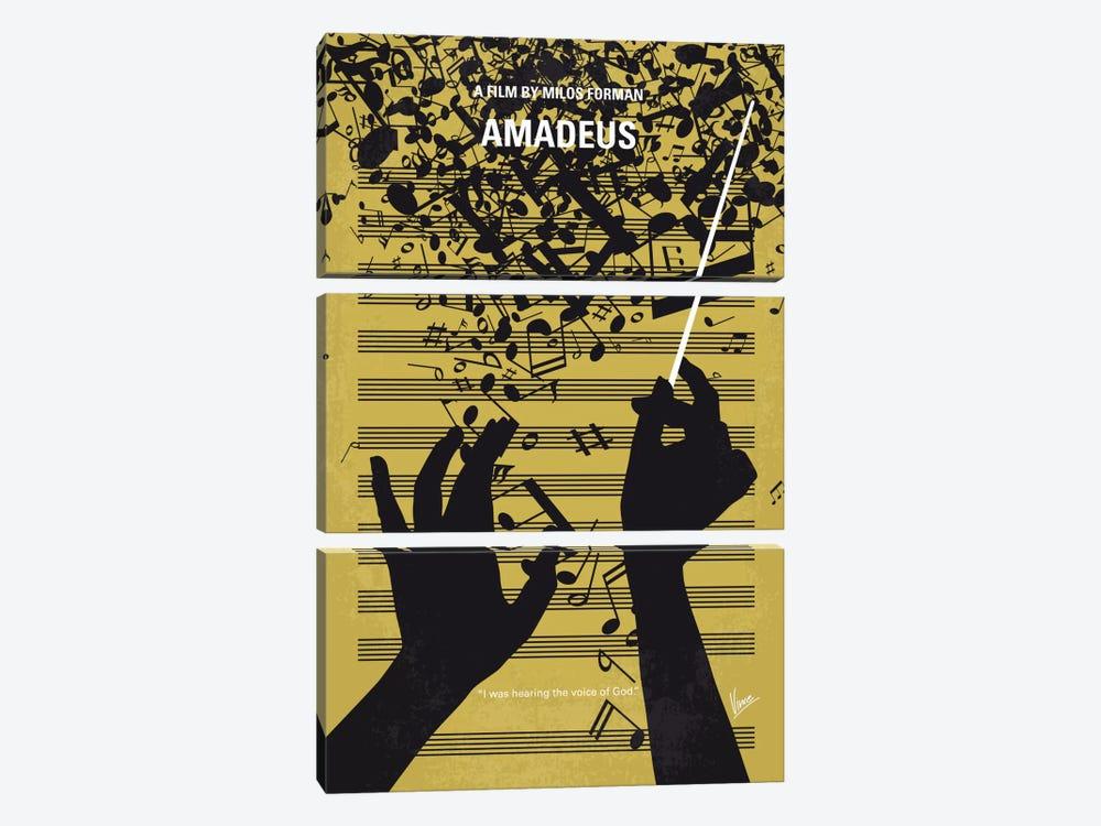 Amadeus Minimal Movie Poster by Chungkong 3-piece Canvas Print