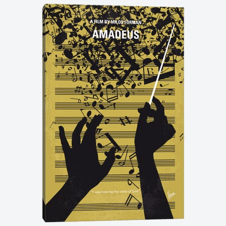 Amadeus Minimal Movie Poster Canvas Print #CKG707} by Chungkong Canvas Print