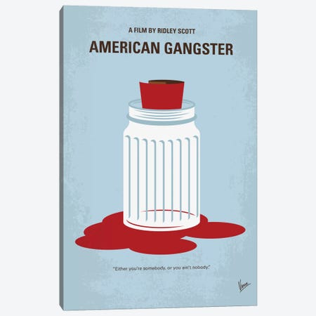 American Gangster Minimal Movie Poster Canvas Print #CKG708} by Chungkong Canvas Wall Art