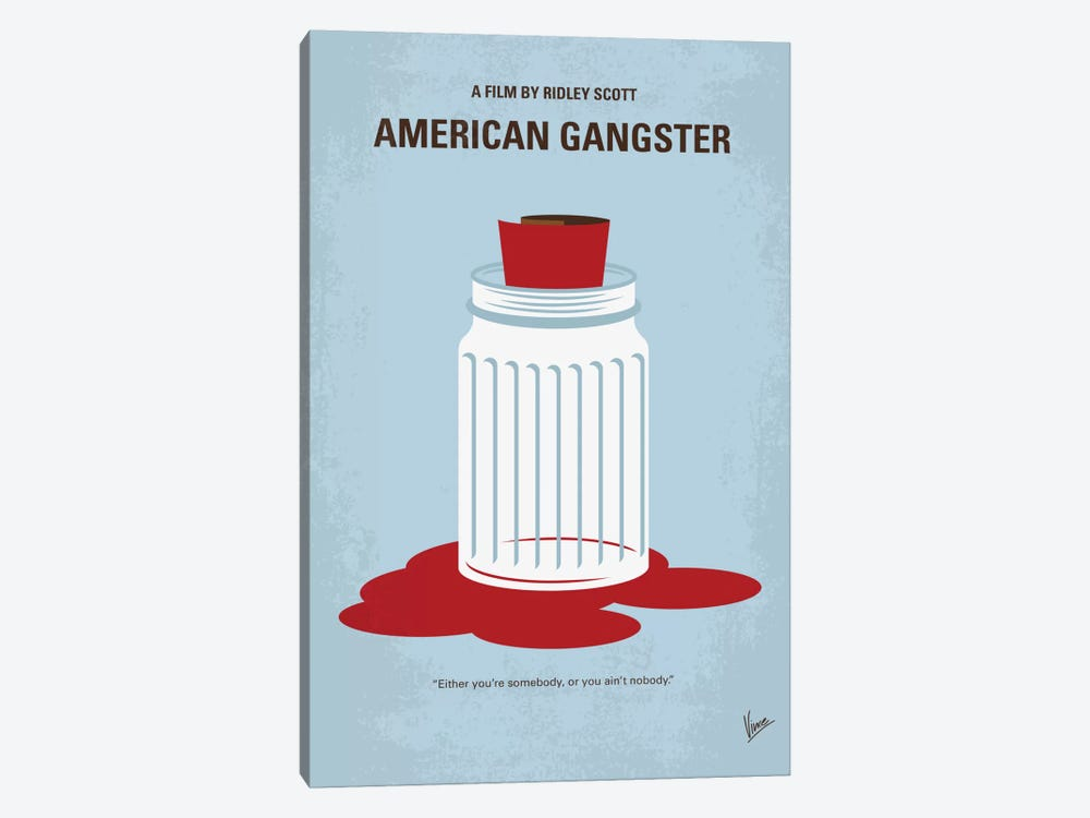 American Gangster Minimal Movie Poster by Chungkong 1-piece Canvas Wall Art