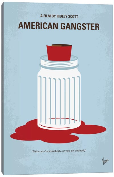 American Gangster Minimal Movie Poster Canvas Art Print