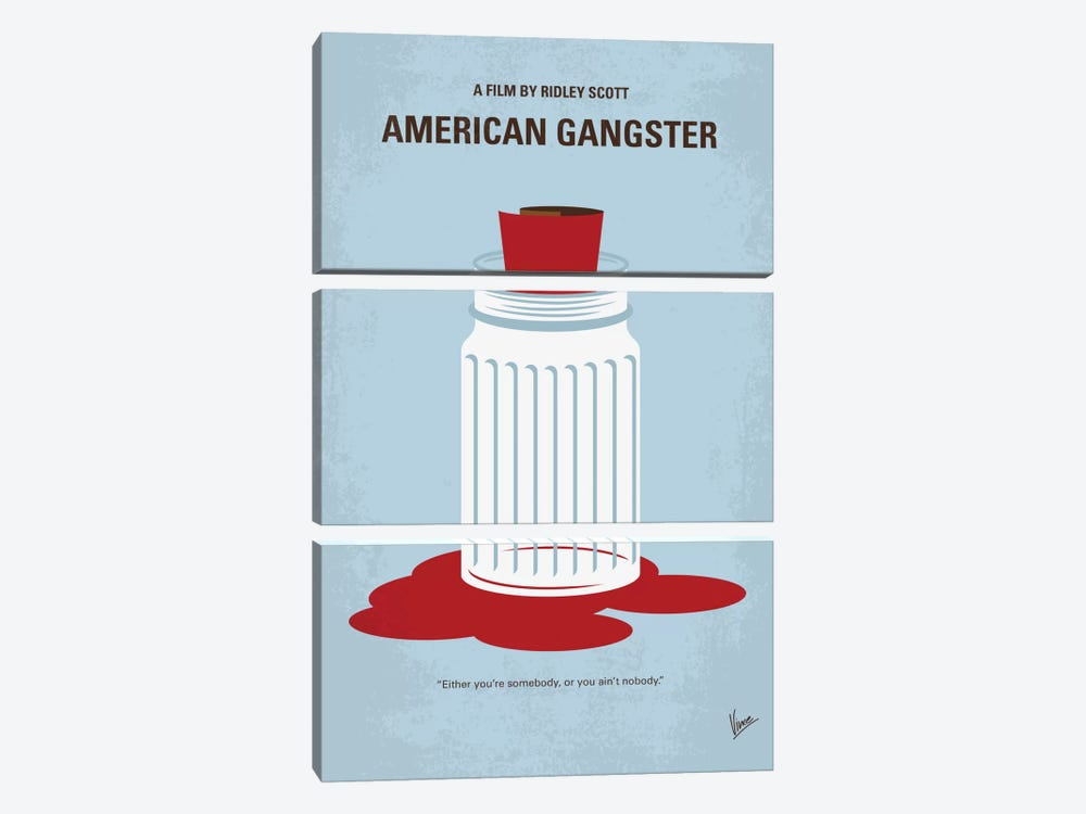 American Gangster Minimal Movie Poster by Chungkong 3-piece Canvas Art
