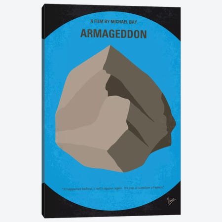Armageddon Minimal Movie Poster Canvas Print #CKG709} by Chungkong Canvas Artwork