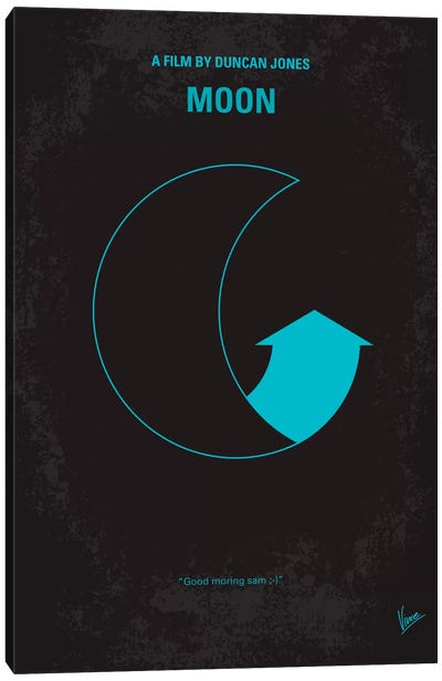 Moon 2009 Minimal Movie Poster Canvas Art Print