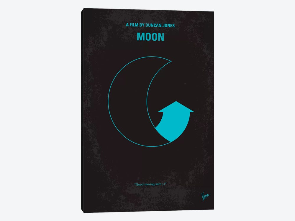 Moon 2009 Minimal Movie Poster by Chungkong 1-piece Canvas Wall Art