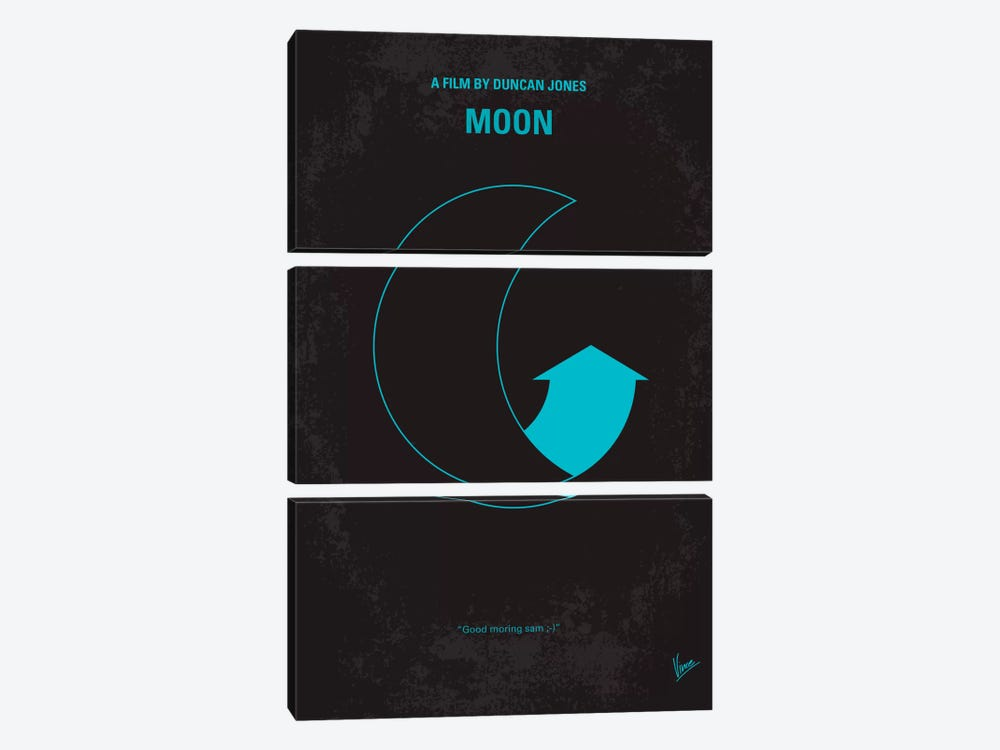 Moon 2009 Minimal Movie Poster by Chungkong 3-piece Canvas Art