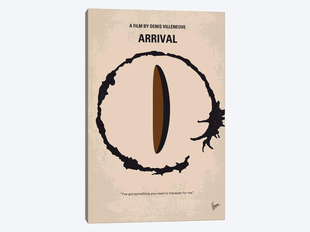 Arrival Minimal Movie Poster 1-piece Canvas Print