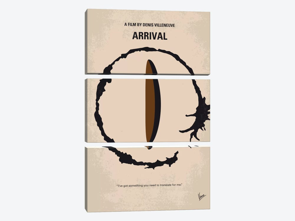 Arrival Minimal Movie Poster by Chungkong 3-piece Canvas Art Print
