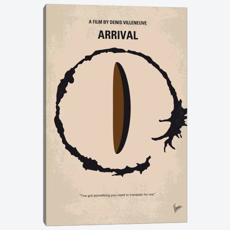 Arrival Minimal Movie Poster Canvas Print #CKG710} by Chungkong Canvas Art Print