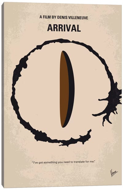 Arrival Minimal Movie Poster Canvas Print #CKG710
