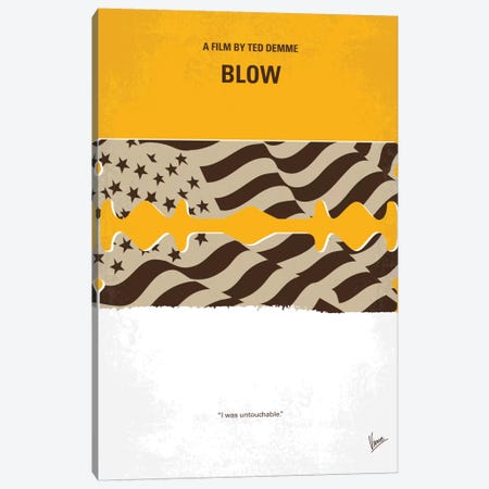 Blow Minimal Movie Poster Canvas Print #CKG712} by Chungkong Art Print