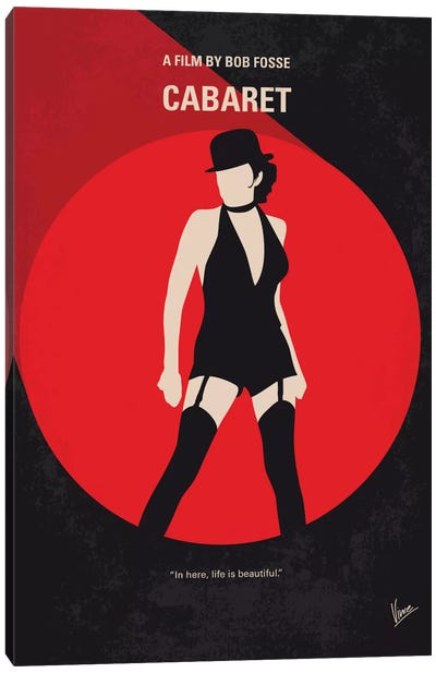 Cabaret Minimal Movie Poster Canvas Art Print