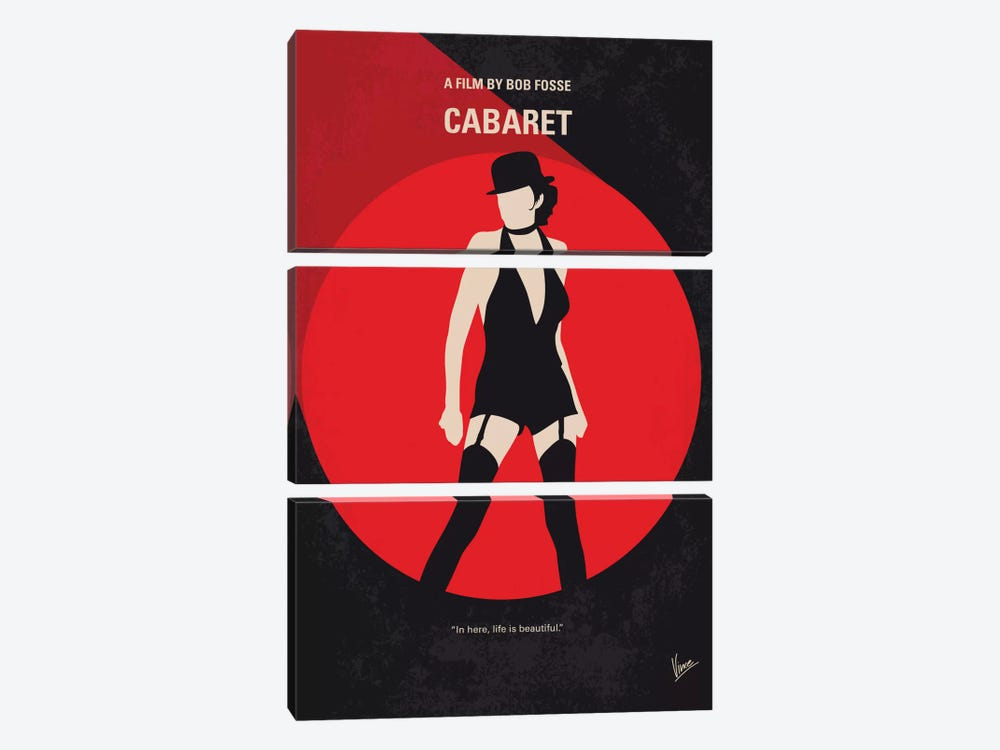 Cabaret Minimal Movie Poster by Chungkong 3-piece Canvas Artwork