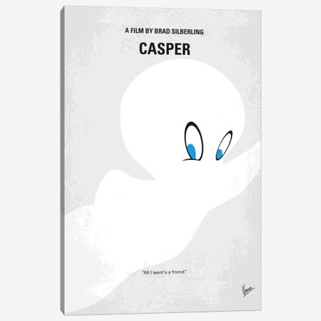 Casper Minimal Movie Poster Canvas Print #CKG714} by Chungkong Canvas Wall Art