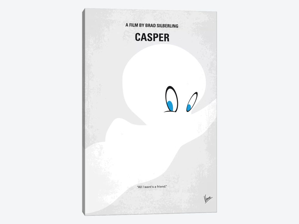 Casper Minimal Movie Poster 1-piece Art Print