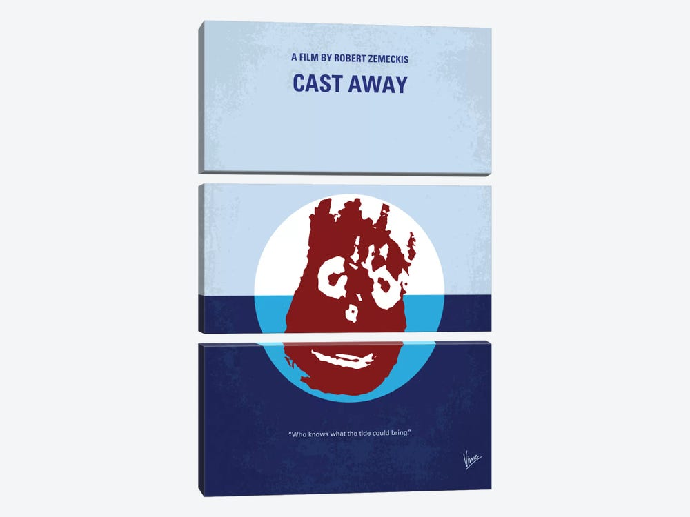 Cast Away Minimal Movie Poster by Chungkong 3-piece Canvas Wall Art