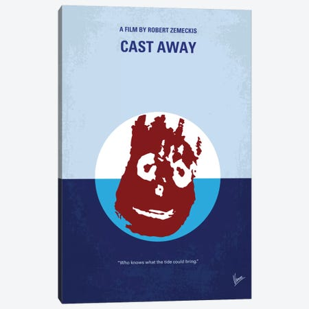 Cast Away Minimal Movie Poster 3-Piece Canvas #CKG715} by Chungkong Canvas Wall Art