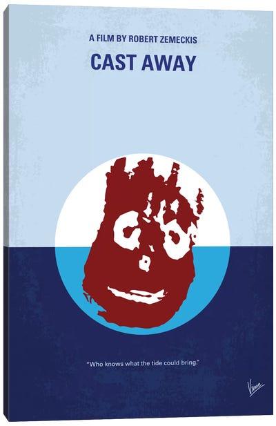 Cast Away Minimal Movie Poster Canvas Art Print