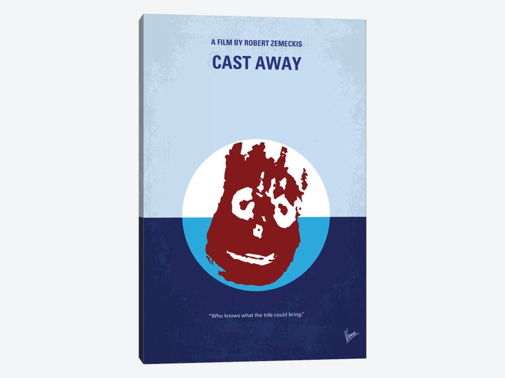 Cast Away Minimal Movie Poster by Chungkong 1-piece Canvas Art