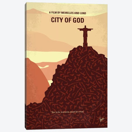 City Of God Minimal Movie Poster Canvas Print #CKG716} by Chungkong Canvas Art