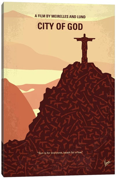 City Of God Minimal Movie Poster Canvas Art Print