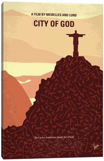 City Of God Minimal Movie Poster Canvas Art Print