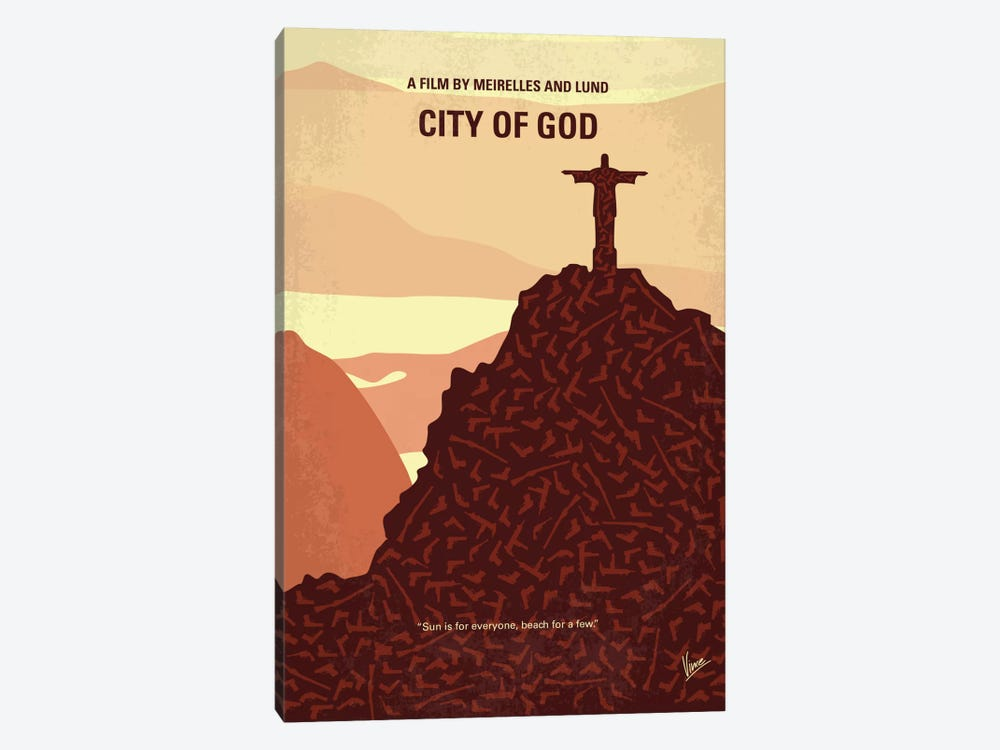 City Of God Minimal Movie Poster by Chungkong 1-piece Canvas Art Print