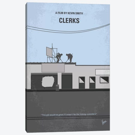 Clerks Minimal Movie Poster Canvas Print #CKG717} by Chungkong Canvas Wall Art