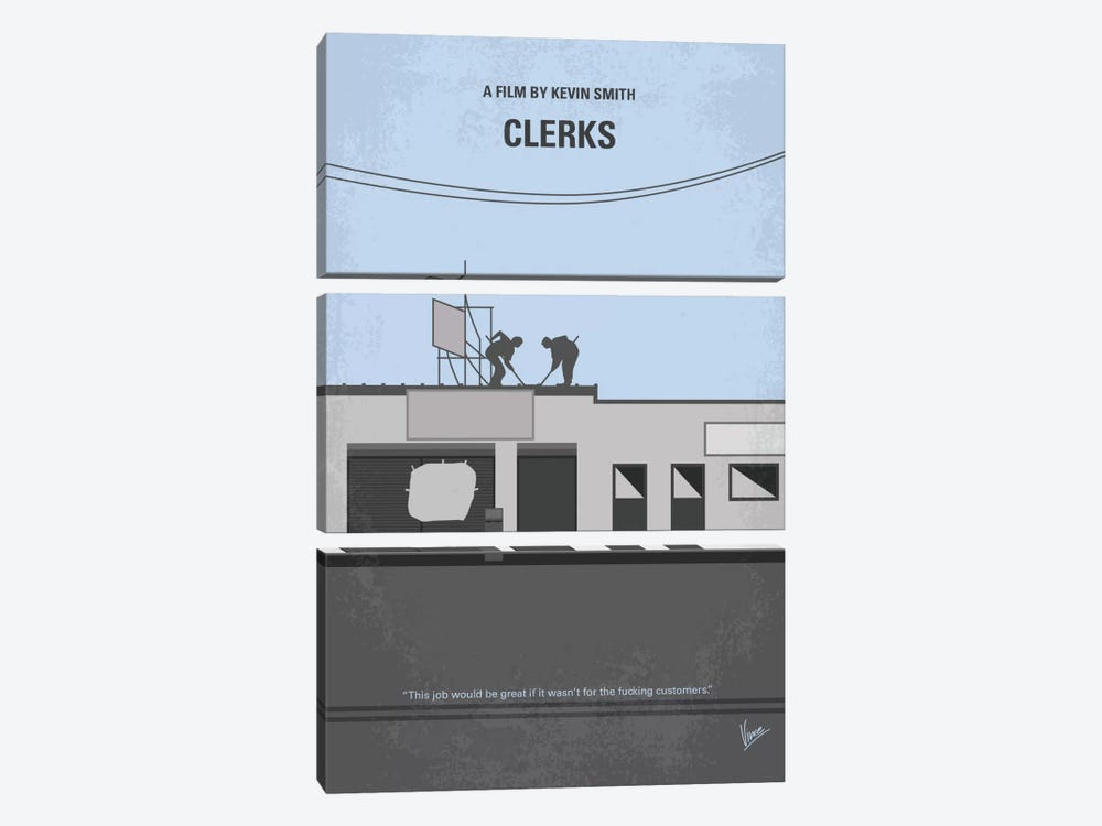 Clerks Minimal Movie Poster by Chungkong 3-piece Canvas Artwork