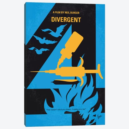 Divergent Minimal Movie Poster Canvas Print #CKG719} by Chungkong Art Print