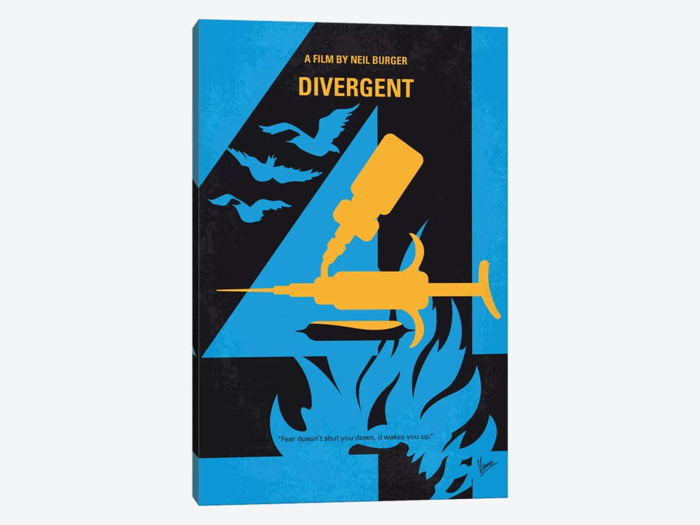 Divergent Minimal Movie Poster by Chungkong 1-piece Canvas Wall Art