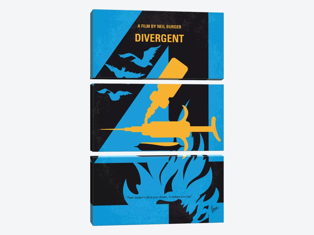 Divergent Minimal Movie Poster by Chungkong 3-piece Canvas Wall Art