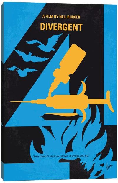 Divergent Minimal Movie Poster Canvas Art Print