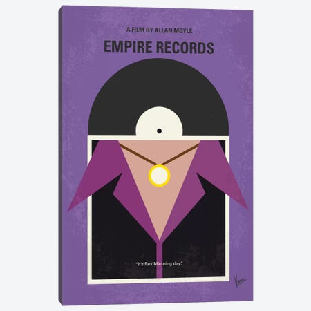 Empire Records Minimal Movie Poster Canvas Print #CKG720} by Chungkong Canvas Artwork