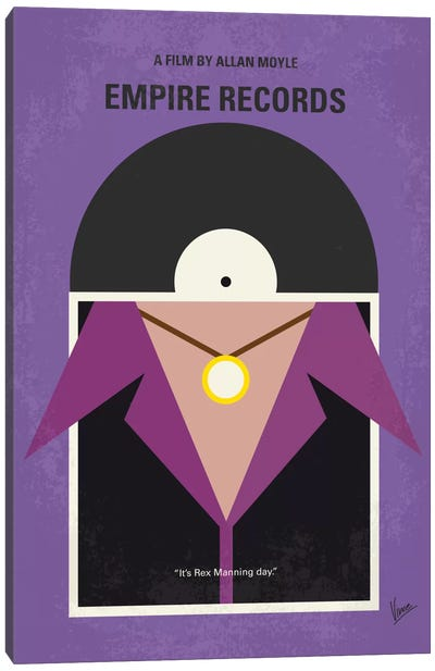 Empire Records Minimal Movie Poster Canvas Art Print